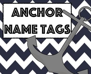 Nautical Name Tag/ Anchor Name Tags