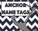 Nautical Name Tag/ Anchor Name Tags