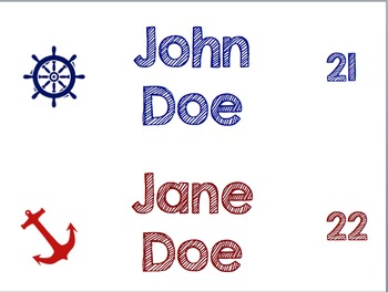 Editable Nautical Name Tags