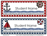 Nautical Name Tags: Editable