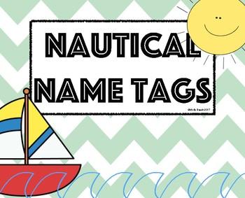 Nautical Name Tags/ Sailboat Name Tags
