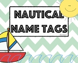 Nautical Name Tags/ Sailboat Name Tags