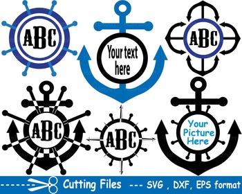 Nautical Navy EPS SVG DXF school reward cutting cut Logo monogram SPORT abc 18S