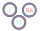 Nautical Navy, Mint, and Coral Letters Bundle-- medium and large