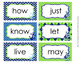 Nautical Navy and Lime 1st Grade Dolch Sight Wall Words