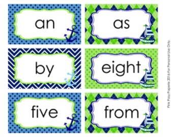 Nautical Navy and Lime Sight Wall Words Custom for Stefanie