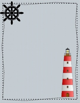 Nautical Navy and White Binder Covers