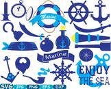 Nautical Navy clip art school reward Logo monogram sport Ocean Sea Anchor -264s
