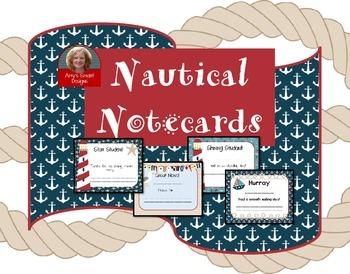 Nautical Notecard Freebie