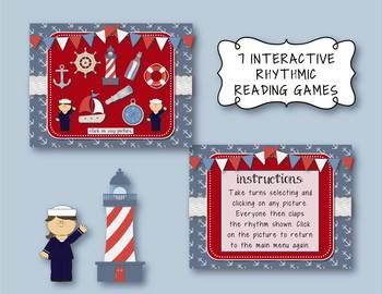 Nautical Notes! 6 ITEM BUNDLE! Rhythm Practice Game