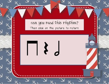 Nautical Notes! Interactive Rhythm Game for Practicing ta-a/Half note (Kodaly)