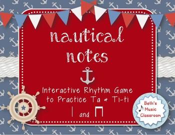 Nautical Notes! Interactive Rhythm Game for Practicing ta, ti-ti (Kodaly)