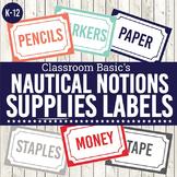 Nautical Notions Printable Supplies Labels (Editable!) - 6 Colors!
