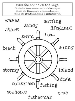 Nautical Nouns: A Printable Grammar Activity Book
