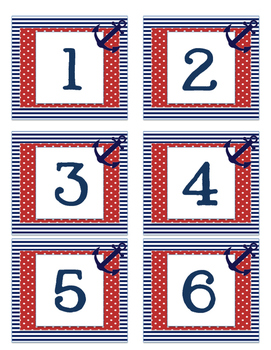 Nautical Number Labels 1-30