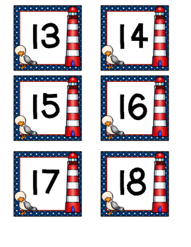 Nautical Lighthouse Number Labels