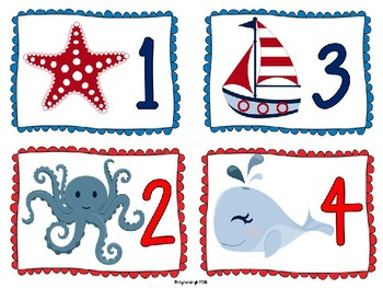 Nautical Number Labels