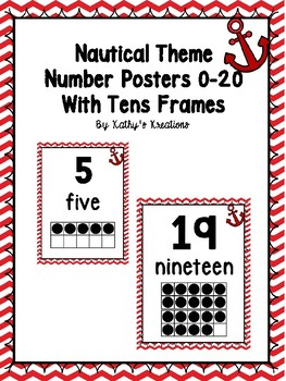 Nautical Number Posters 0-20