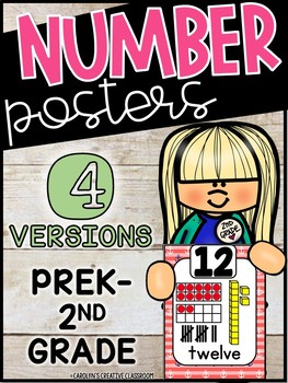 Nautical Number Posters (Set #2) - Nautical Decor