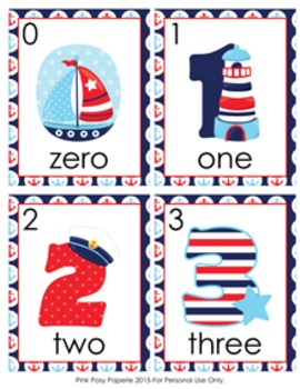 Nautical Number Words Write the Room Activity
