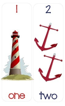 Nautical Number/Counting Charts 1-10