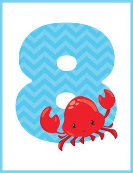 Nautical Numbers Flash Cards; Kindergarten; Preschool; Homeschool; Math