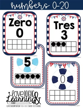 Nautical Numbers With Ten Frames