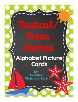 Nautical Ocean Themed Alphabet Picture Cards