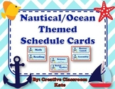 Nautical Ocean Themed Schedule Cards