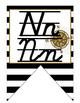 Nautical (Ocean) themed D'Nealian manuscript and cursive A