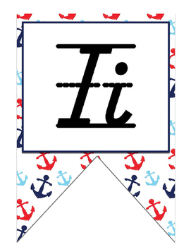Nautical (Ocean) themed Print  Alphabet Strip