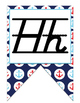 Nautical (Ocean) themed Print Cursive Alphabet Strip