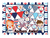 Nautical (Ocean) themed bulletin board pendant banner