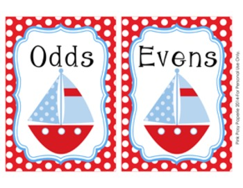 Nautical Odd Even Numbers Sorting Game 1-30
