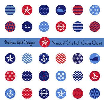Clipart: Nautical One Inch Circle Clip Art
