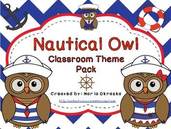Nautical Owl Theme Pack