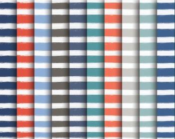 Nautical Paint Stripe Paper Set #022