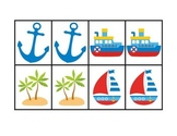 Nautical Partner Match Up Cards