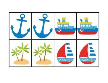 Nautical Partner Match Up Cards