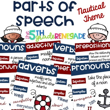 Nautical Parts of Speech Posters