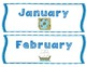 Nautical Patterning Calendar Cards & Headers (4 Sets!)