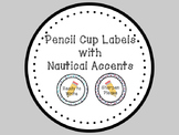Nautical Pencil Cup Labels
