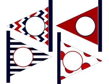 Nautical Pennant Flag NUMBERS