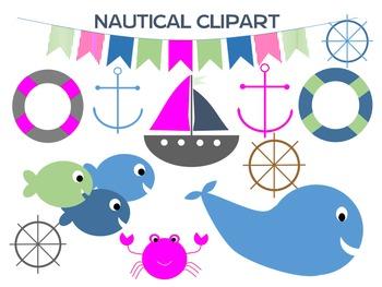 Nautical Pink Clip Art