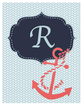 Nautical Planner Binder Cover Style 4