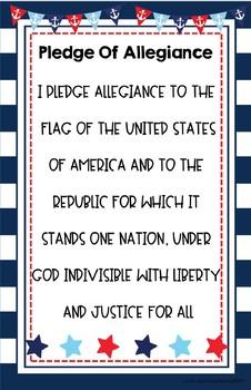 Nautical Pledge of Allegiance Posters