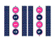 Nautical Polka Dot Navy and Pink Number Line