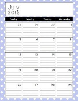 Nautical Poppy & Navy Calendar and Coordinating Art {2015-2016}
