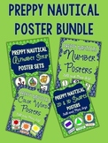 Nautical Posters - Preppy Navy and Green BUNDLE
