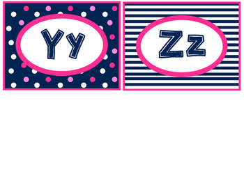 Nautical Preppy Word Wall Letters